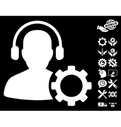 Operator Configuration Gear Icon with Tools vector image