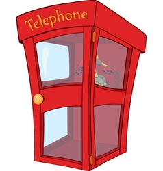 Payphone cartoon vector image