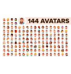 People avatar set man woman human vector