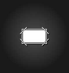 picture frame icon flat vector image