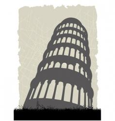 Pisa tower vector image