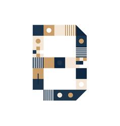 pixel art letter b colorful letter consist of vector image