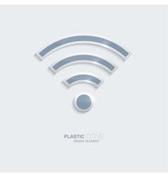 Plastic icon symbo wi-fi zonel vector image