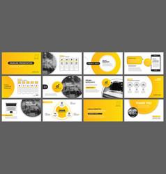 Presentation and slide layout background design vector