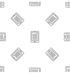 reading device pattern seamless vector image