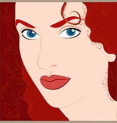 Red-haired girl vector