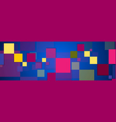 retro blue purple geometric squares abstract vector image