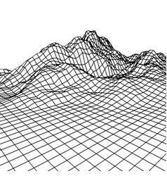 retro grid rocks vector image