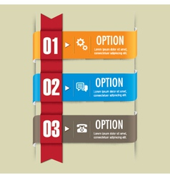 Ribbon set Web design elements vector image