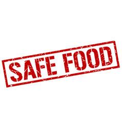 Safe food stamp vector