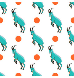 seamless pattern with goat vector image