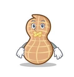 Silent peanut character cartoon style vector