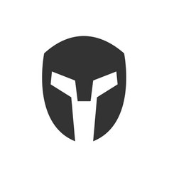 simple spartan silhouette head vector image