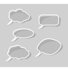 speech bubbles isolated on gray background vector image