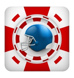 Square red casino chips of usa football sports vector