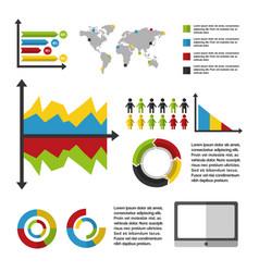Statistics data business vector