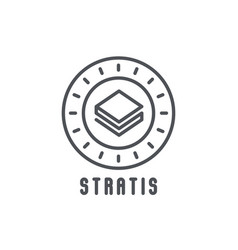 Stratis thin line icon modern vector