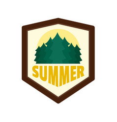 summer forest logo flat style vector image