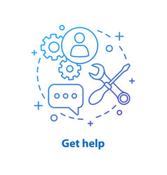 Technical support concept icon vector