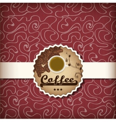 Template for a coffee menu vector