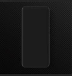 totally soft realistic dark black vector image