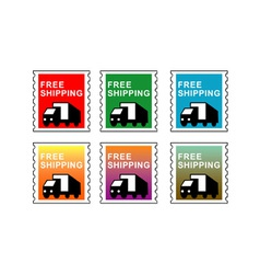 Truck Free Shipping Stamp vector