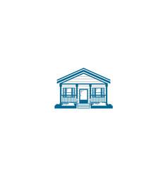 vintage home wooden logo icon vector image
