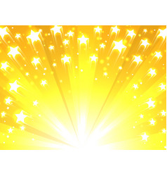 Yellow background with stars vector