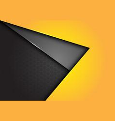 Yellow gray arrow direction overlap on hexagon vector