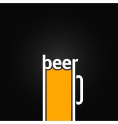 beer glass mug design background vector image