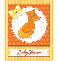 cute fox baby isolated caracter animal vector image