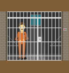 prisoner flat of prison cell vector image
