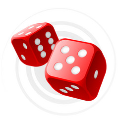 Red dices vector