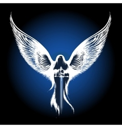 Angel with Sword vector image