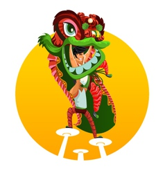Chinese New Year Lion Dance vector image