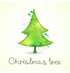 Christmas tree in watercolor trending style cute vector