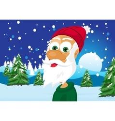 funny skinny santa claus vector image vector image
