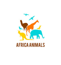 logo of african animals vector image
