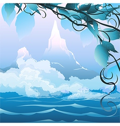 River landscape vector image