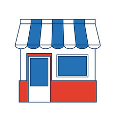 shopping store market commercial concept vector image