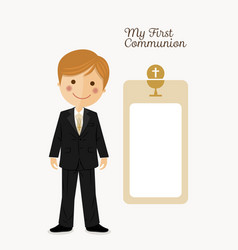 child costume in her first communion dress vector image vector image