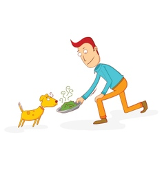 food for a dog vector image vector image