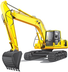 large excavator vector image vector image