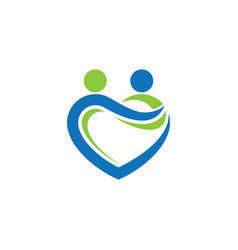 People love care together logo vector