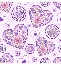 seamless pattern with abstract hearts vector image vector image