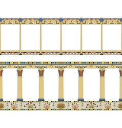 Ancient Egyptian colonnade seamless pattern vector image vector image
