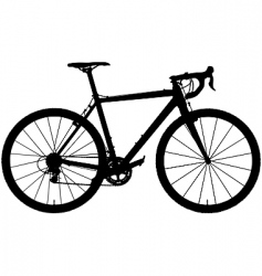 cyclocross bicycle vector image vector image