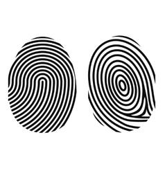 fingerprint on white vector image vector image