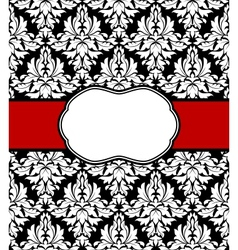 Seamless background with elegant frame vector image vector image