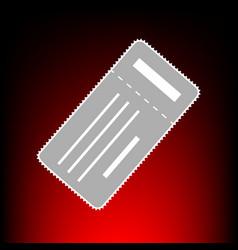 ticket simple vector image